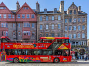 UK, Edinburgh, Double decker bus, hop on hop off