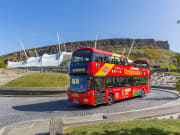 UK, Edinburgh, Double decker bus