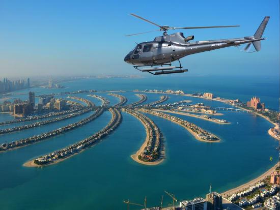 Private helicopter flight in Dubai