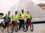 france, paris, louvre museum, bike tour