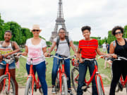 france, paris, bike, eiffel tower