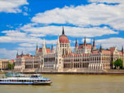 Scenic view of the Hungarian Parliament Building