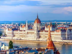 Aerial view of the Hungarian Parliament Building