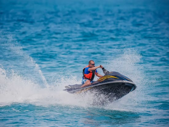 Hop On A Jet Ski And Zoom Around An Aquatic Racetrack Off The Sand Island Coastline Perfect For Friends S Families Get Ready Adventure