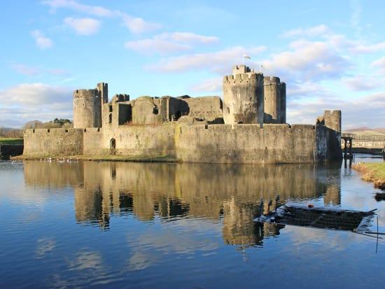 UK, Cardiff, Caerphilly Castle