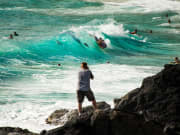 Taking pics of surfers