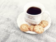 cup of tea and plate of cookies, biscuits