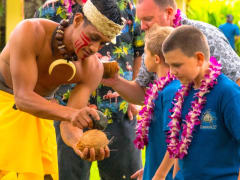 Coconut craking