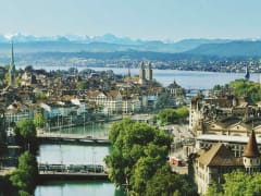 Zürich with Lake and Limmat River