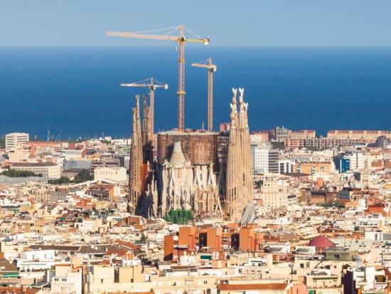 Spain, Barcelona Helicopter Tour, Sagrada Familia