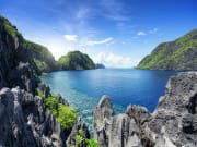 View of the Tapiutan Strait