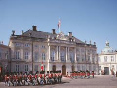 Copenhagen, Amalienborg, changing of the guard