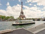Seine shuttle near Eiffel Tower