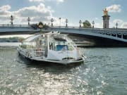 Seine shuttle passing Pont Alexandre III