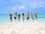 people enjoying the beach tangalooma island resort