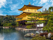 The Golden Pavilion (Kinkaku-ji) of Kyoto, Japan.