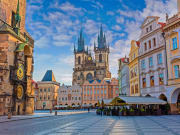 Prague Old Town Square with Tyn Church