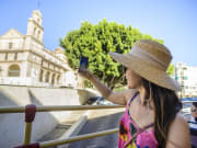 malaga hop on hop off sightseeing bus tour spain