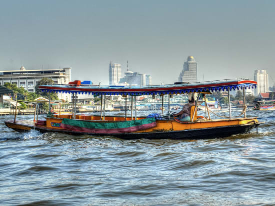 Traditional Longtail boat in Chao Phraya River