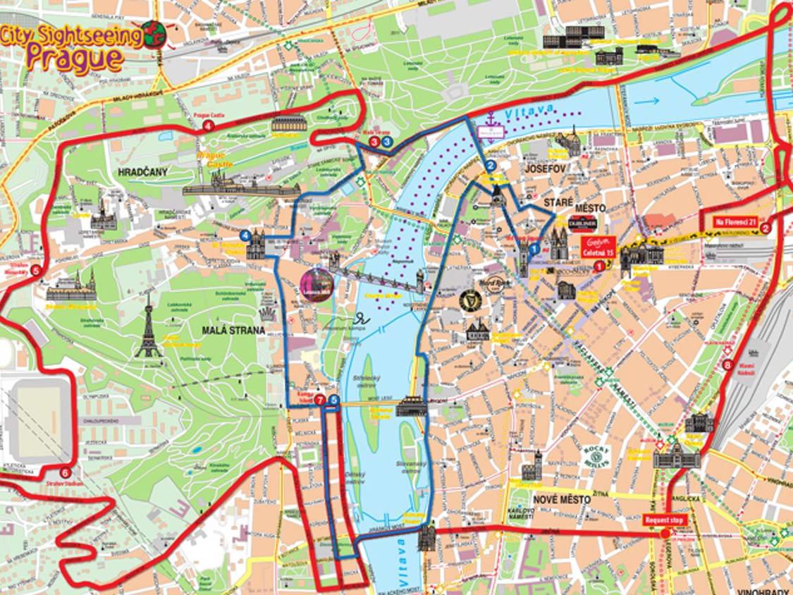 Prague Hop On Hop Off City Sightseeing Bus Tour With