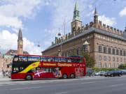 Copenhagen City Hall hop on hop off bus tour