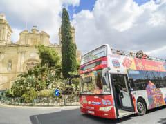 malta hop on hop off sightseeing bus tour
