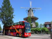 bus hop on hop off amsterdam double decker bus