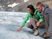 Touch-an-ancient-glacier-on-the-Icefields-Parkway-Tour