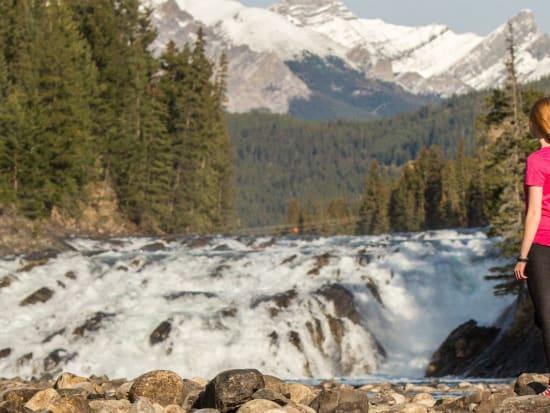 Sightseeing-at-Bow-Falls