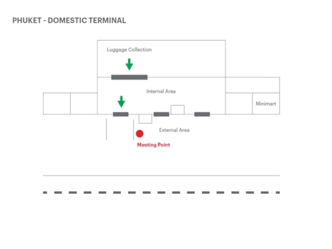 Phuket Domestic Terminal Map