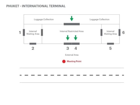 Phuket International Terminal Map