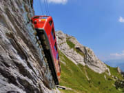 Cogwheel train, Alpnachstad, steepest, swiss alps