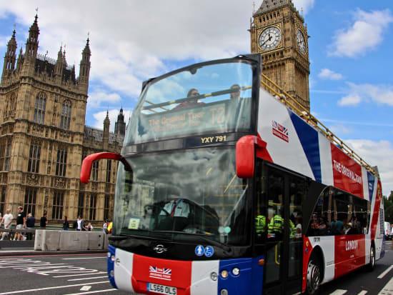 London Bus front, Big Ben