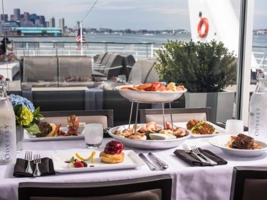 USA_Boston_Odyssey Dinner Cruise Table Menu