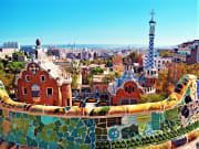 Panoramic view of Park Guell