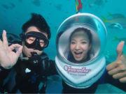 ocean walker great barrier reef helmet diving