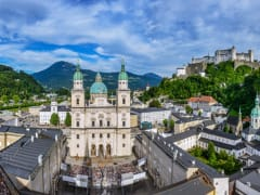 Domplatz, Jedermann, Salzburg Cathedral, austria