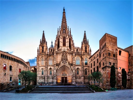 spain, barcelona, cathedral, eulalia, holy cross