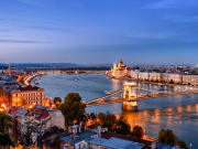 Danube, Budapest by dusk