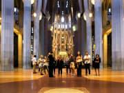 gaudi, interior, barcelona, sagrada, familia