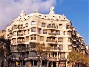 casa mila, gaudi, barcelona, spain