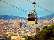 spain, barcelona, cable car, montjuic