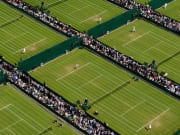 Grass courts at the Wimbledon Lawn Tennis Museum