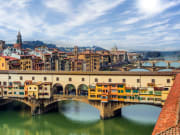 florence, italy, bridge, skyline