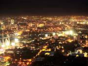 cebu illuminated by lights at night