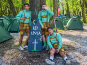 Games and costumes at Stoke Oktoberfest camp