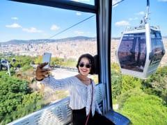 barcelona, cable car, spain