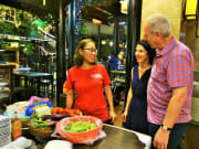 Visiting the foodstores in restaurant