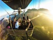 spain, catalonia, montserrat, hot air, balloon