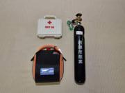AEDと酸素 安全対策